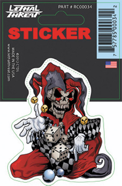 Lethal Threat Skull Jester Decal