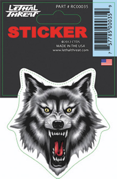 Lethal Threat Wolf Head decal