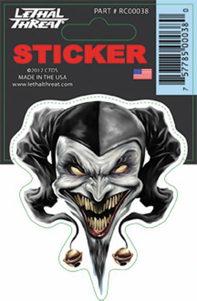 Lethal Threat Airbrush Jester Decal
