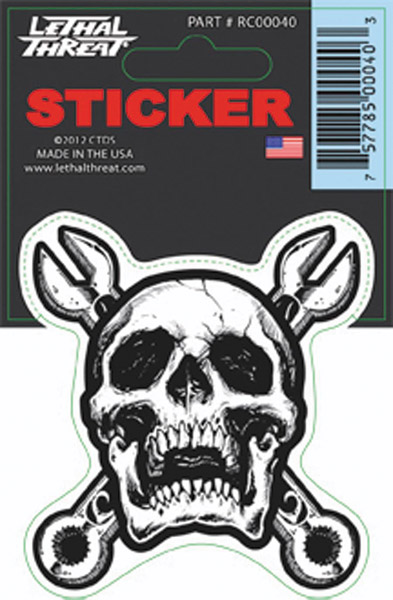 Lethal Threat Wrench Skull Decal