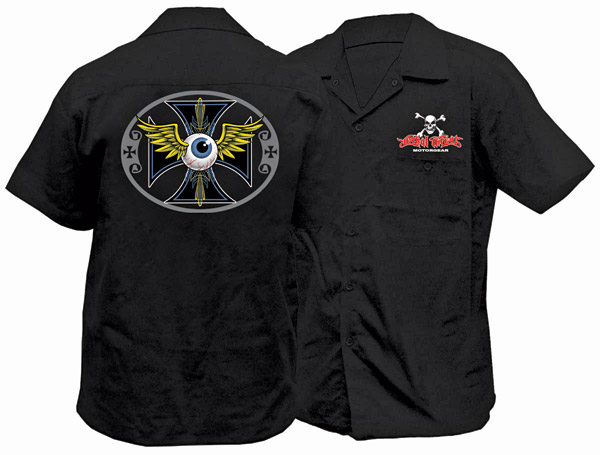 Lethal Threat Pinstripe Eyeball Workshirt