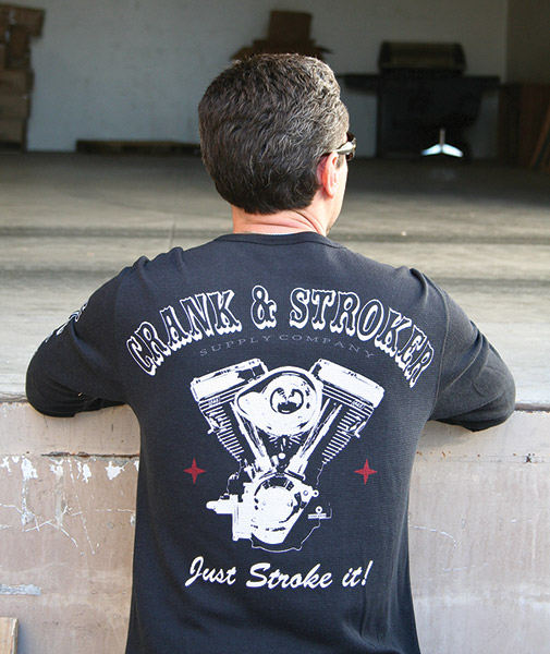 Crank & Stroker Supply All Motor Black Long-Sleeve Thermal