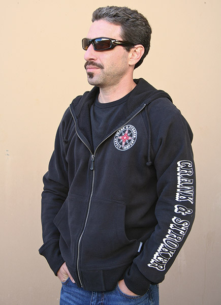 Crank & Stroker Supply All Motor Black Zip Hoodie