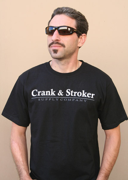 Crank & Stroker Supply Men's Milwaukee Black T-shirt