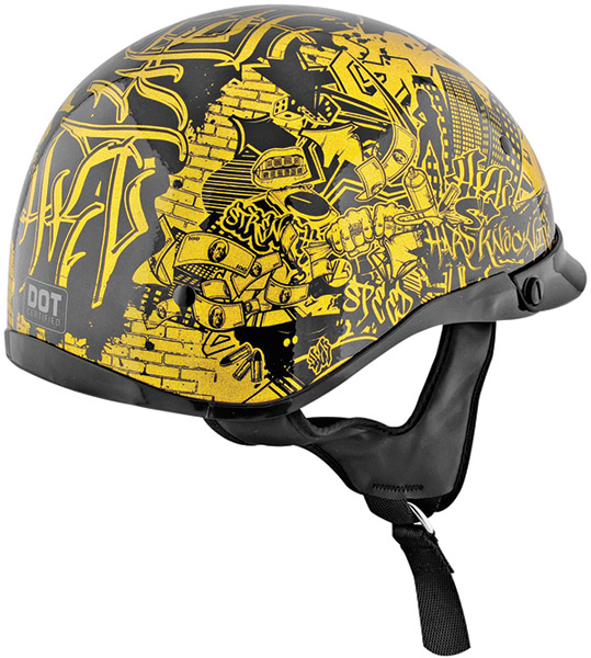 Speed and Strength SS500 Hard Knock Life Gold and Black Half Helmet