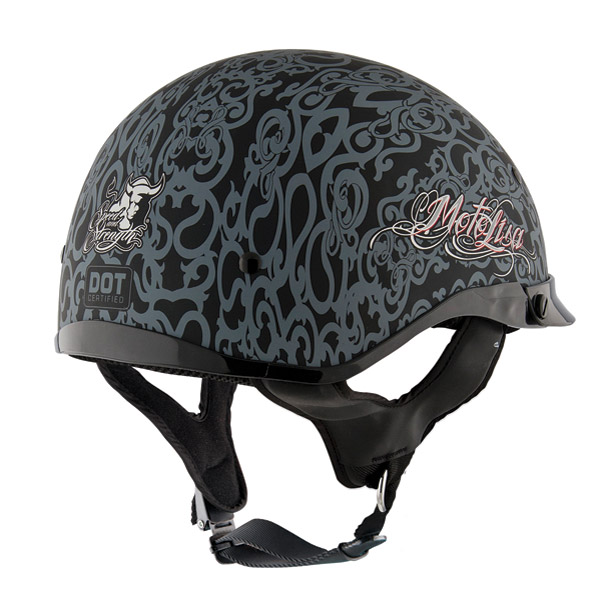 Speed and Strength SS500 MotoLisa Matte Black and Silver Half Helmet