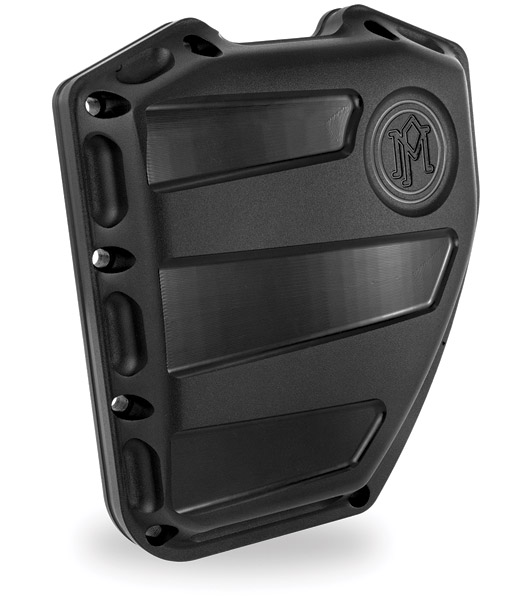 Performance Machine Twin Cam Scallop Black Ops Cam Cover