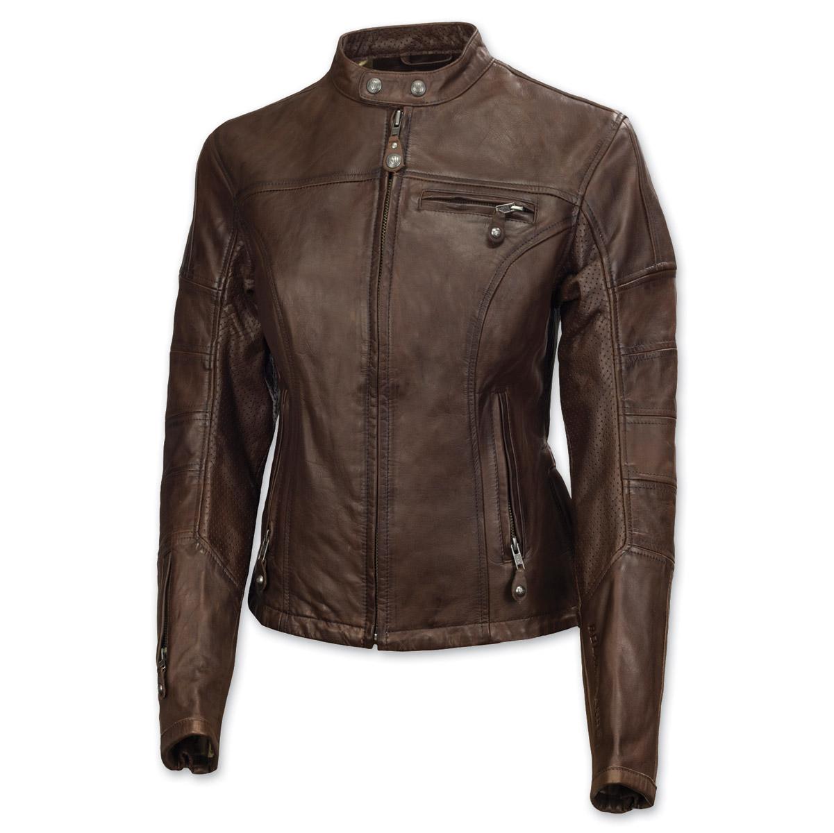 Roland Sands Design Maven Women's Tobacco Brown Leather Jacket