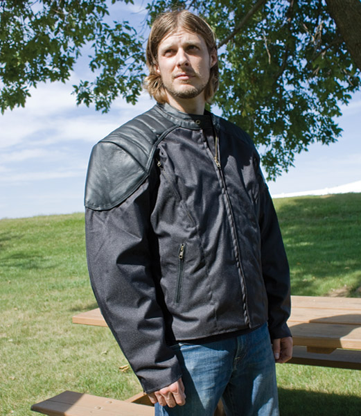Allstate Leather Inc. Men's Cordura/Leather Vented Jacket