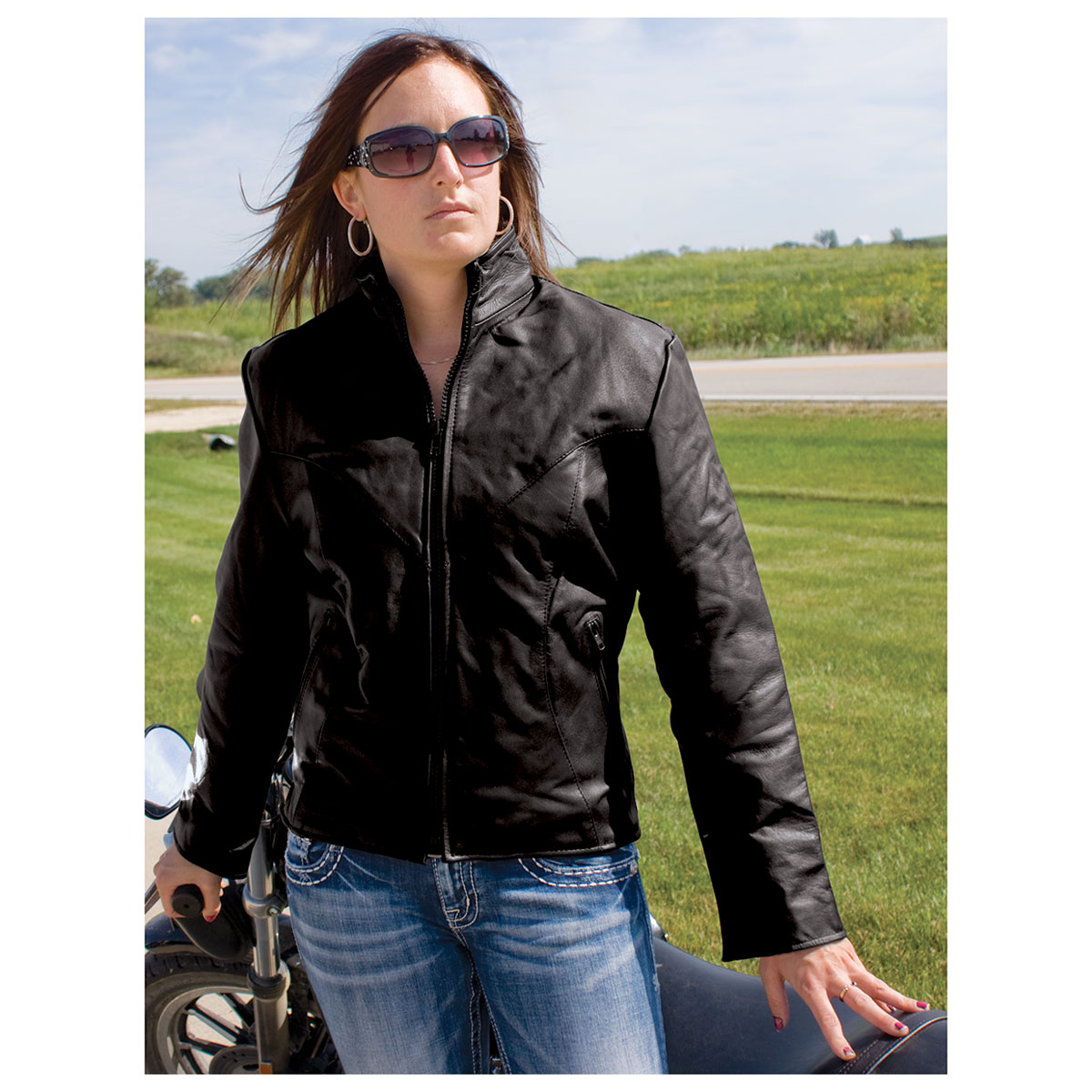 Allstate Leather Inc Women S Leather Riding Jacket Al2160 L