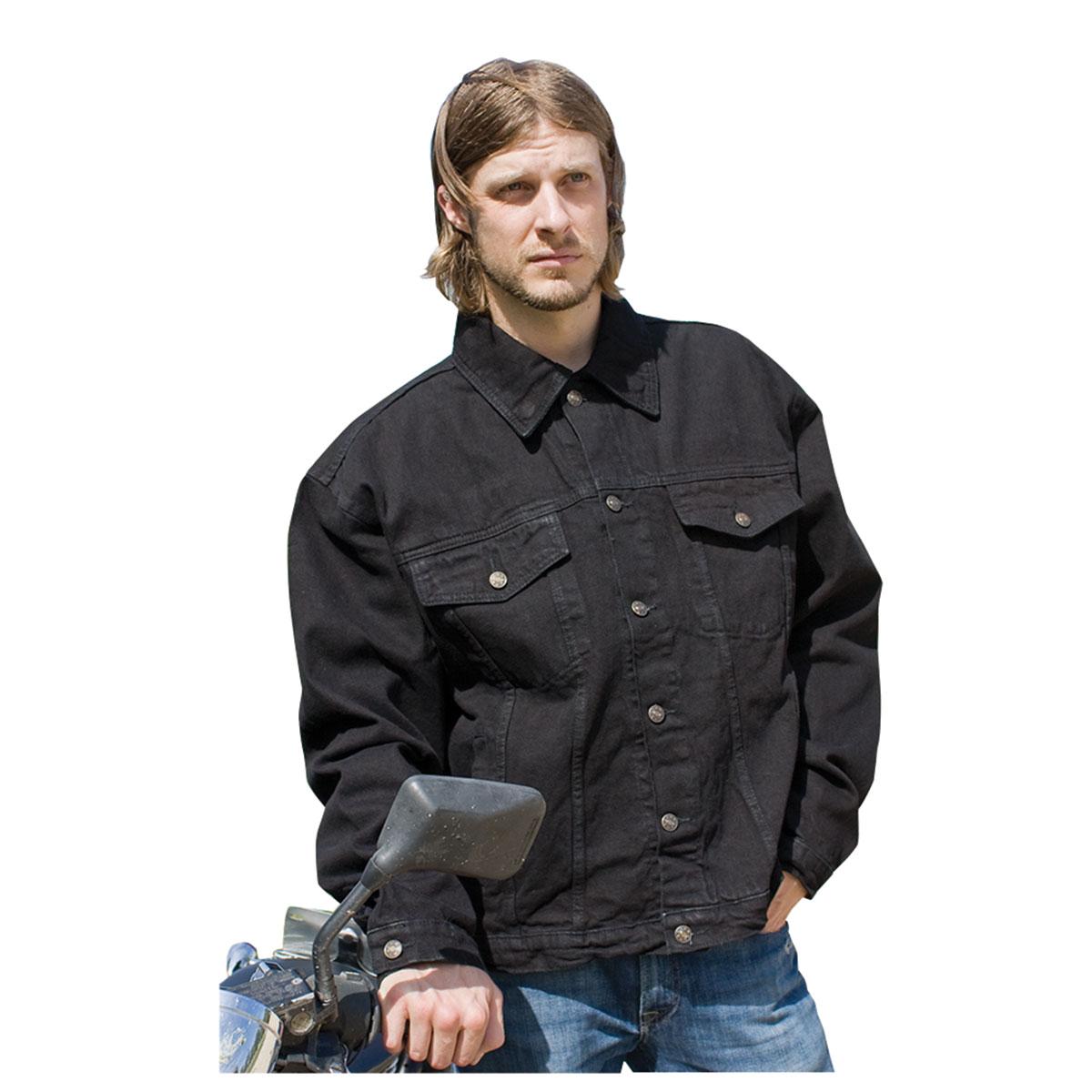 Allstate Leather Inc. Men's Black Denim Jacket | 634-241 | J&P Cycles