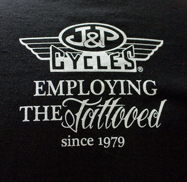 J&P Cycles® Tattooed and Employed Sleeveless T-shirt