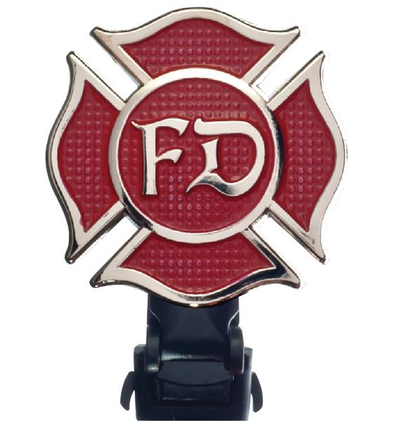 Biker Boot Straps Fire Department 4