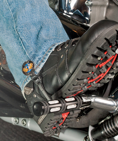 Biker Boot Straps V-Twin Motorcycle 4