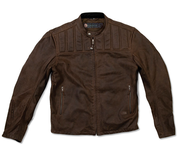 Roland Sands Design Enzo Mahogany Leather Jacket