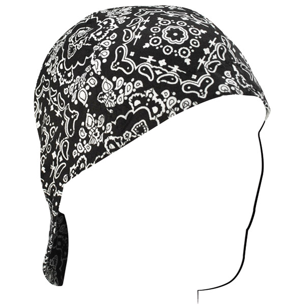 ZAN headgear Black Paisley Welder's Cap