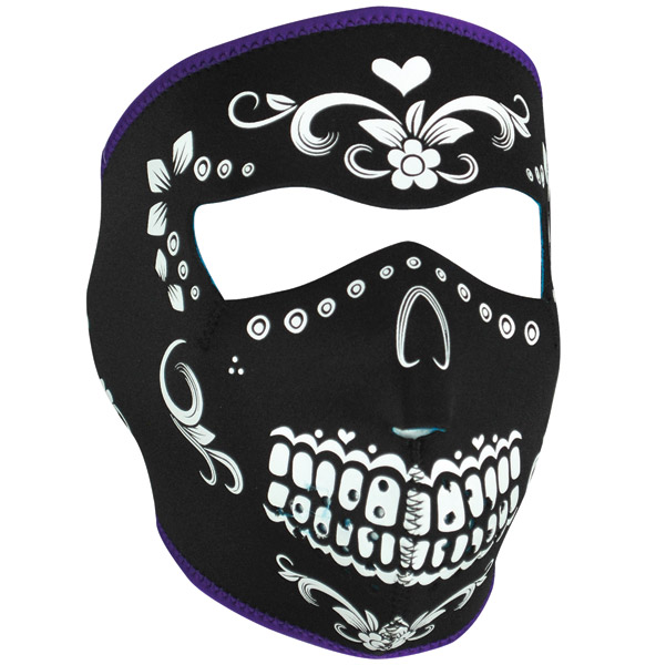 ZAN headgear Black/White Muerte Neoprene Face Mask