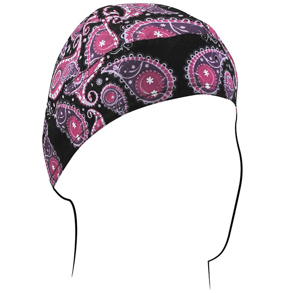 ZAN headgear Purple Paisley Flydanna Head Wrap