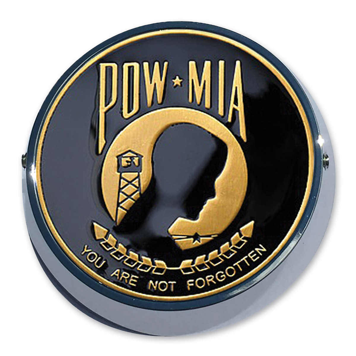 Motordog69 Universal Coin Mount with POW-MIA Coin
