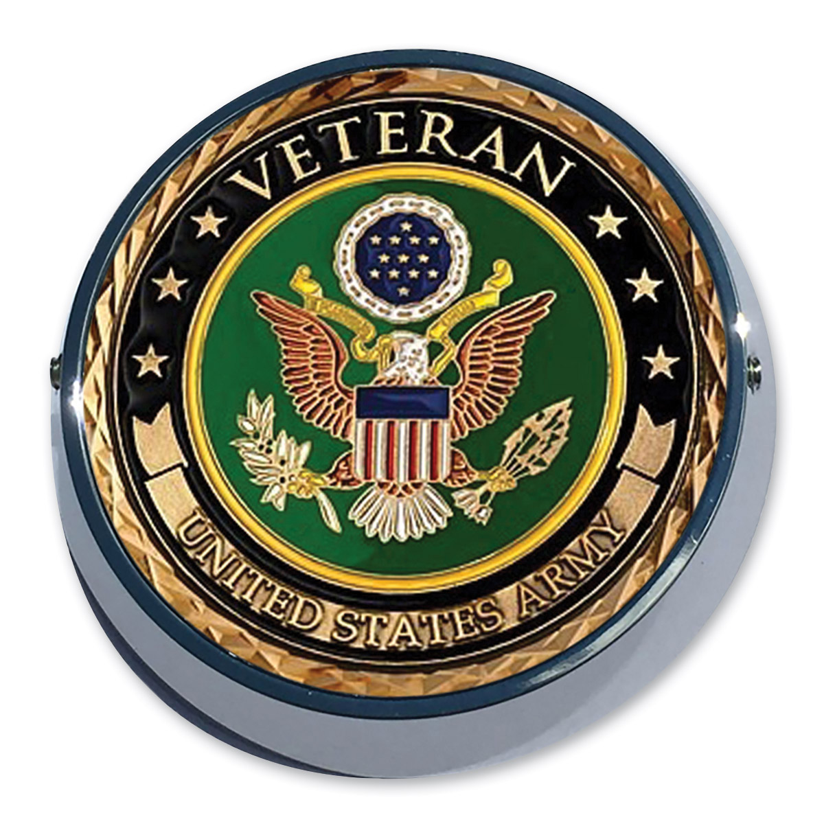 Motordog69 Universal Coin Mount with Army Veteran Coin