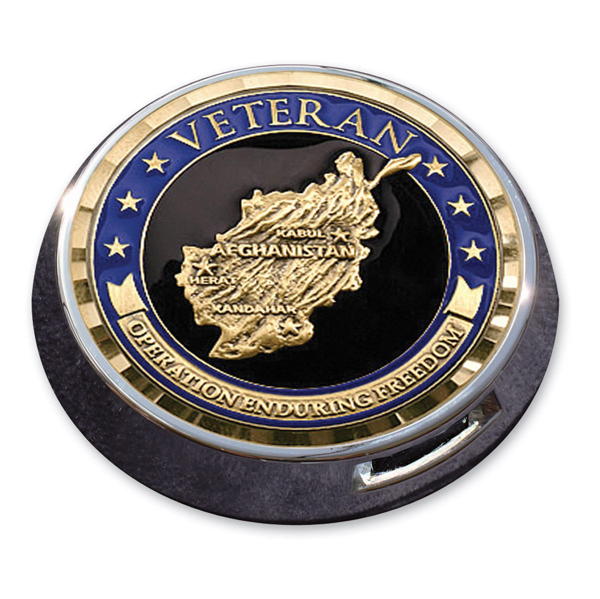 Motordog69 Universal Coin Mount with Enduring Freedom Coin