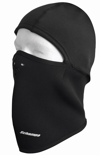 Schampa Black Fleeceprene Balaclava