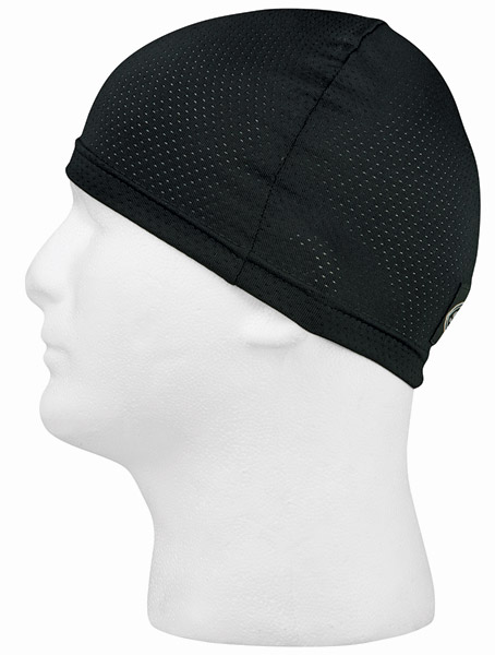Schampa Black Mesh Stretch Skull Cap
