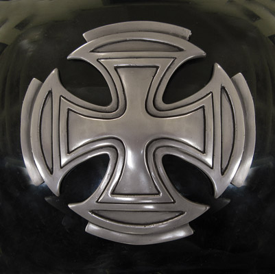 Zambini Bros. Silver Maltese Cross Tank Emblems