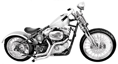 Paughco Rigid Frame for Sportster Rubber-Mounted Engines