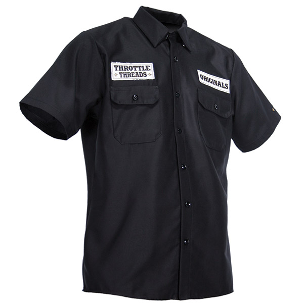 ThrottleThreads Men's TT Original Black Shop Shirt