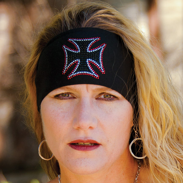 DesignWraps Brands Inc Stretch Maltese Cross Headband