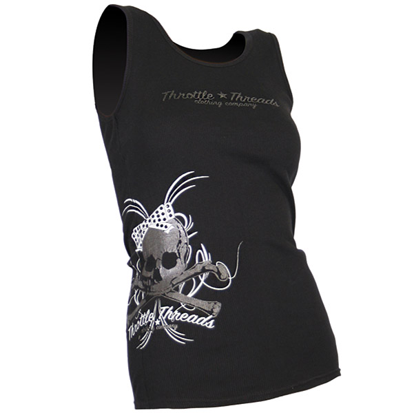 ThrottleThreads Women's Bunky Black Tank Top