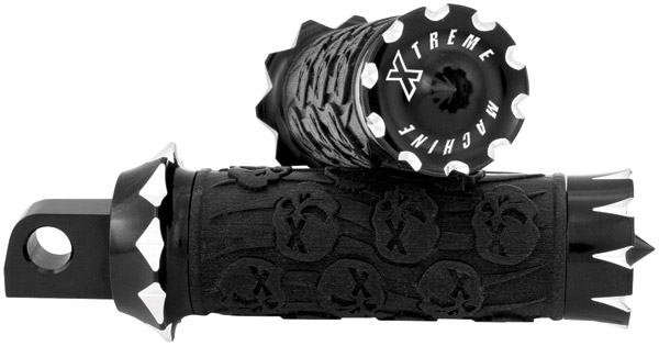 Xtreme Machine Death Black Cut Rubber Footpegs