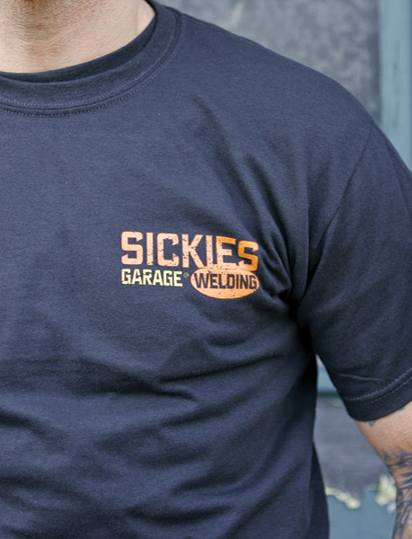 Sick Boy Men's Sickies Garage Welding Black T-shirt