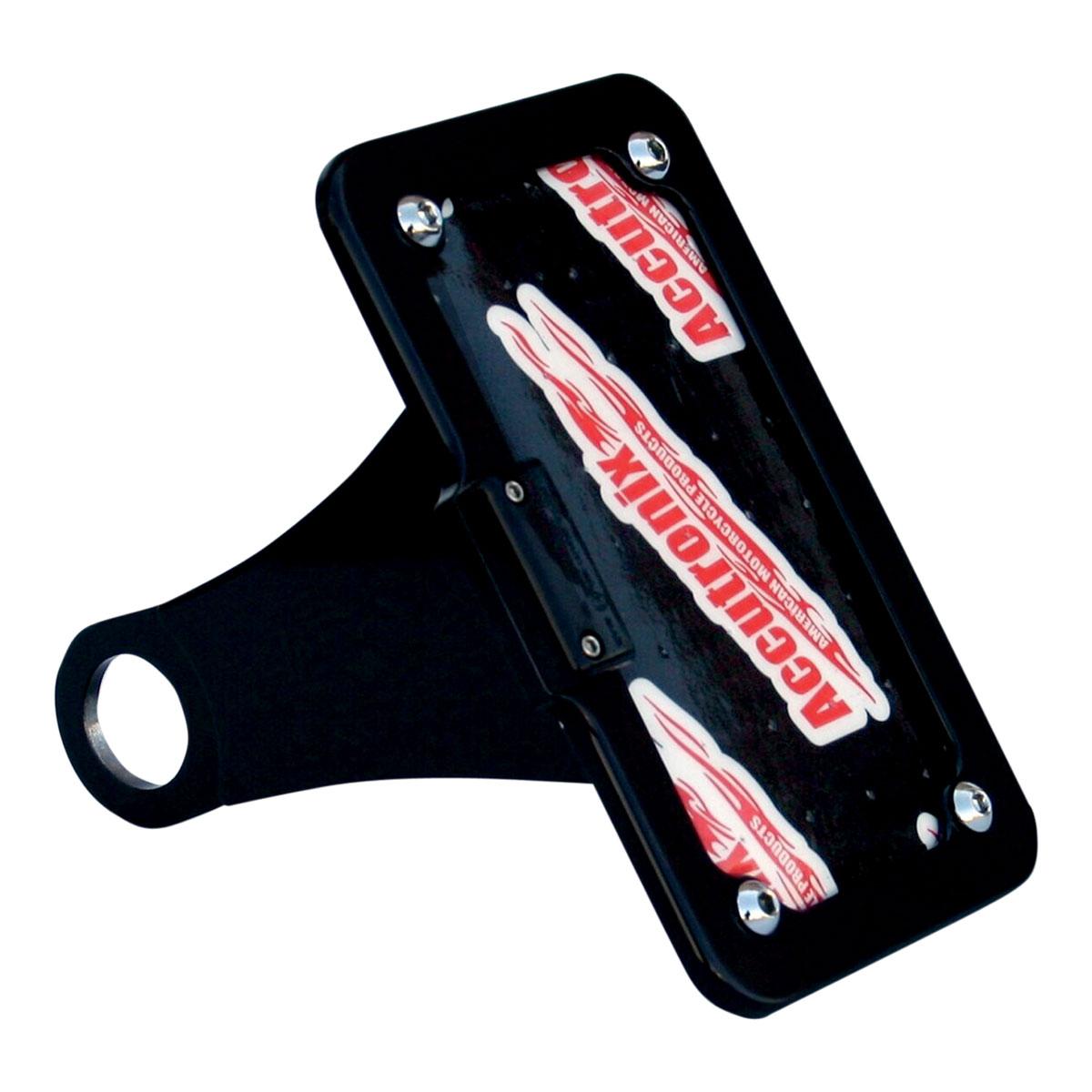 Accutronix Side Mount LED License Plate Kit Black - LPF114HV-B