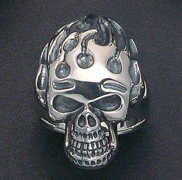 Wildthings Skull Flame Ring