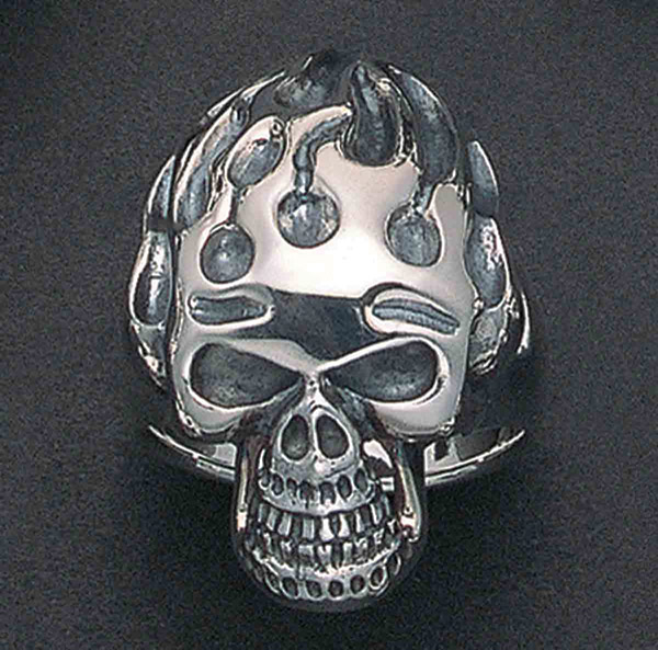 Wildthings Skull Flame Ring
