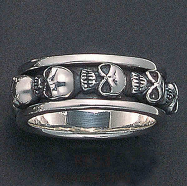 Wildthings Spinner Skull Ring