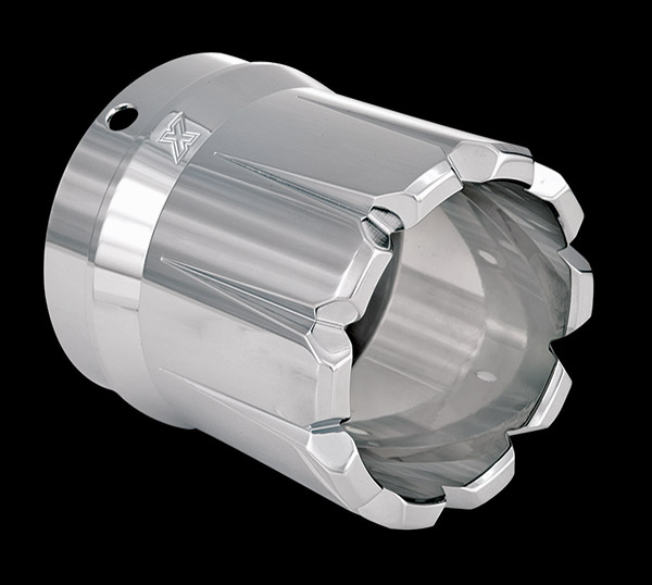 Xtreme Machine Dominate Chrome Exhaust Tip for 3-1/2