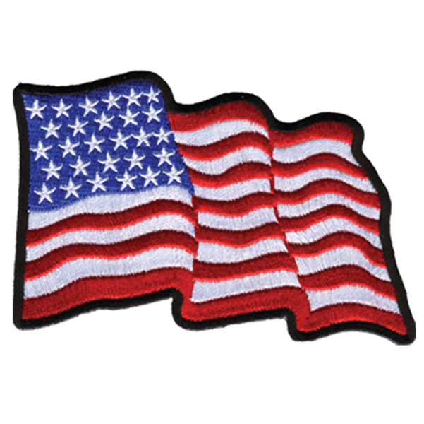Hot Leathers Wavy Flag Patch