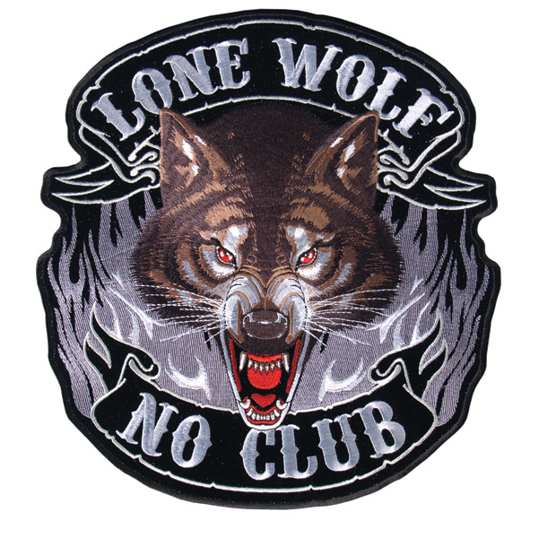 Hot Leathers Lone Wolf Full Face Patch