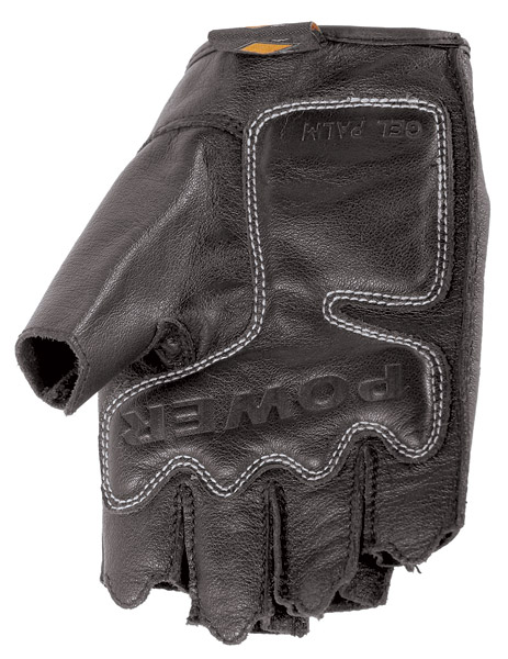 Power Trip Graphite Leather Fingerless Ladies Gloves