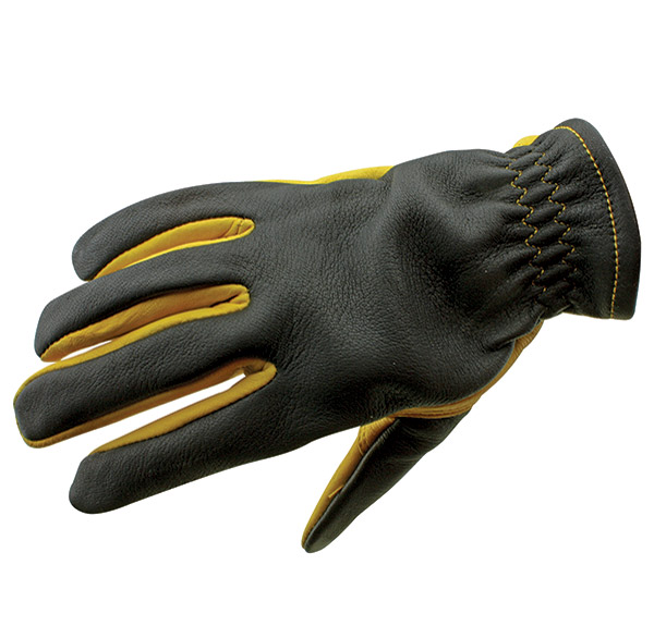 J&P Cycles® Black and Gold Riding Gloves