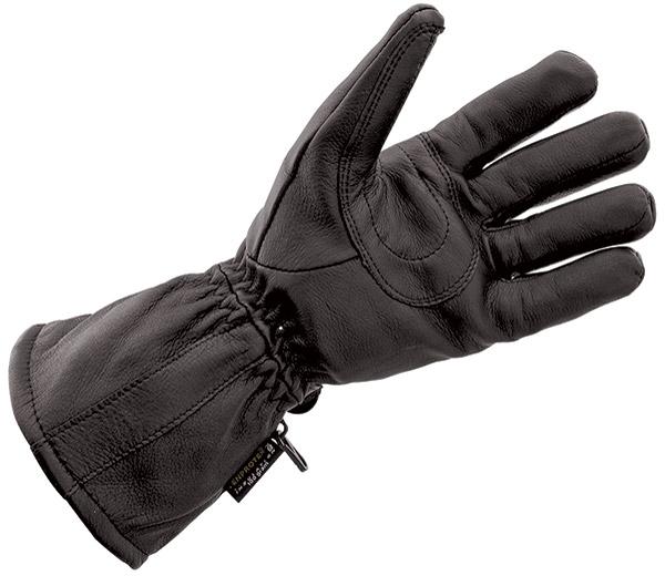 J&P Cycles® Black Deerskin Waterproof Gloves