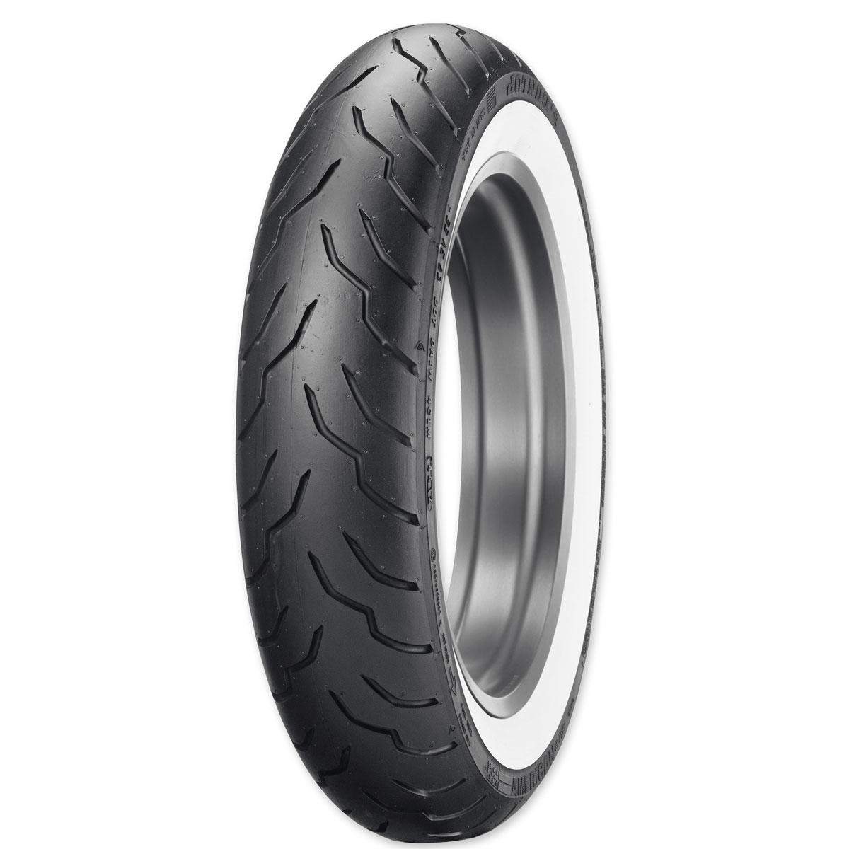 Dunlop American Elite 130/90B16 67H Wide Whitewall Front Tire
