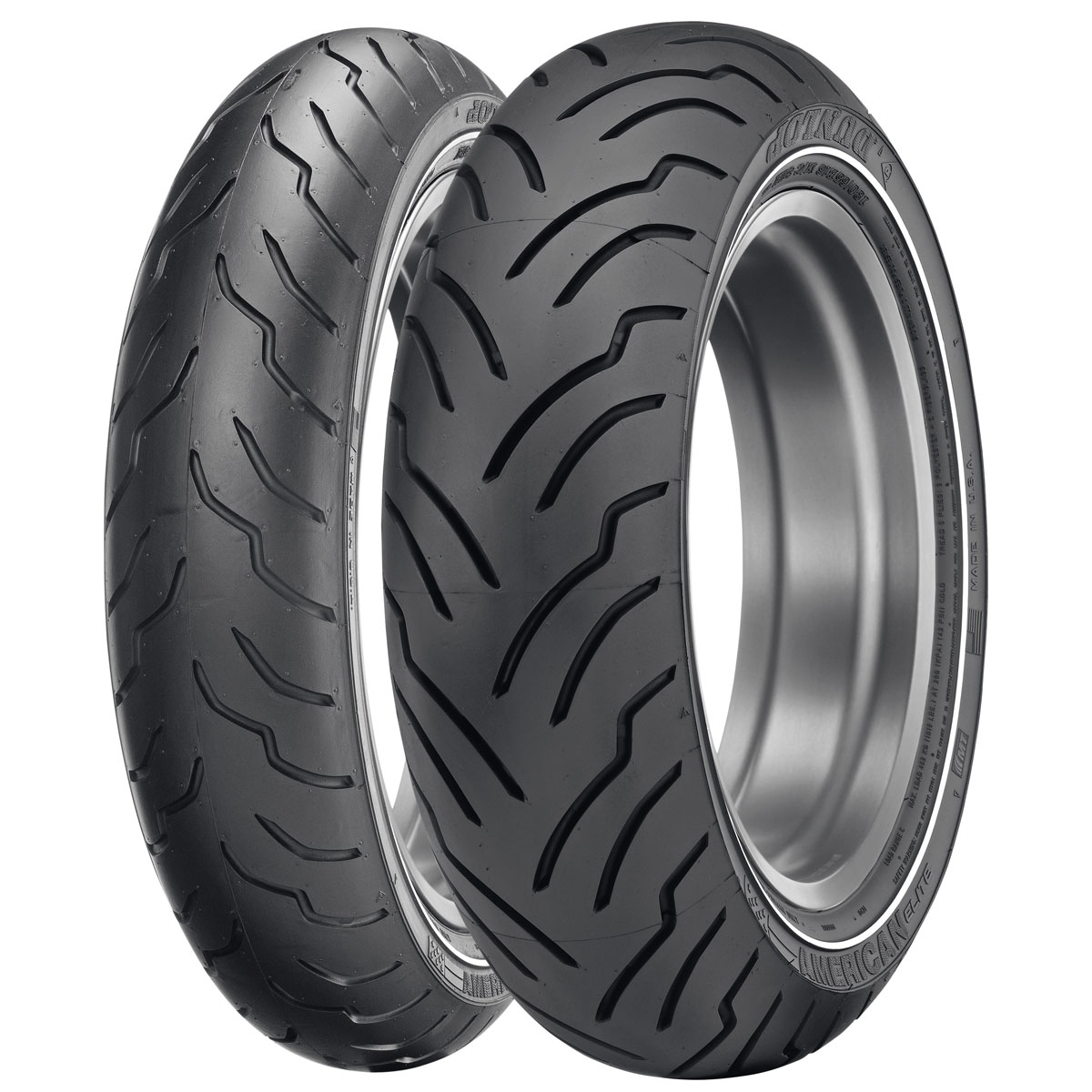 Dunlop American Elite 180/65B16 Narrow Whitewall Rear Tire
