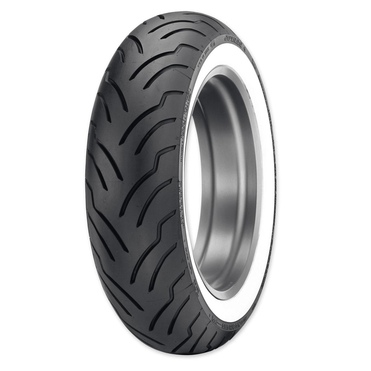 dunlop american elite 18065b16 wide whitewall rear tire
