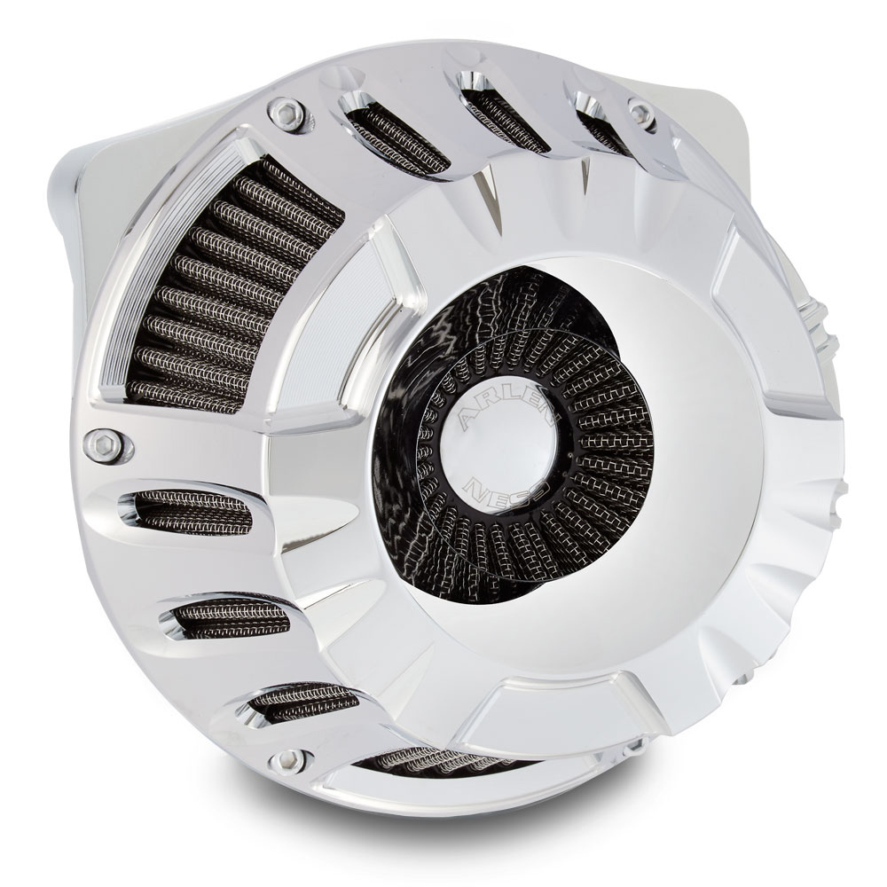 Arlen Ness Inverted Series Deep Cut Chrome Air Cleaner Kit