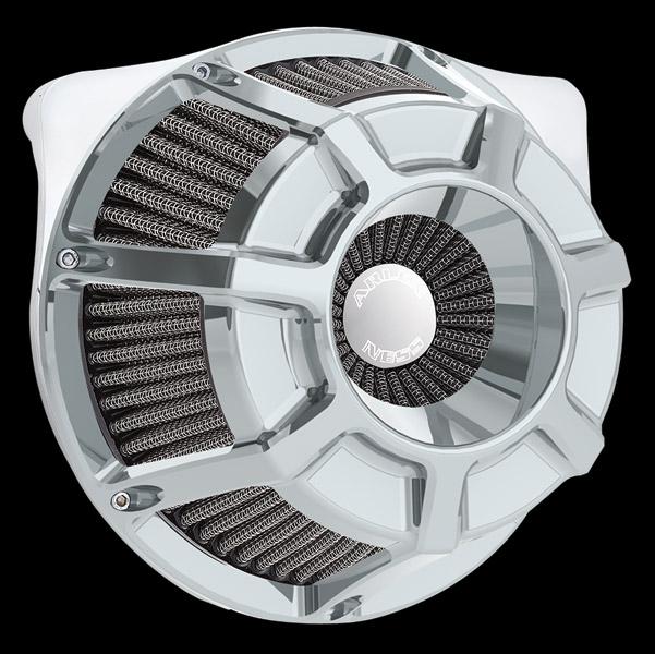 Arlen Ness Inverted Series Beveled Chrome Air Cleaner Kit