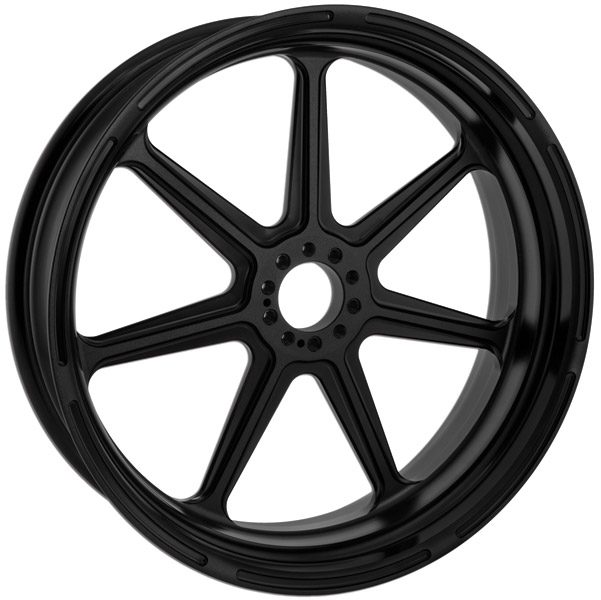 Roland Sands Design Morris Black Ops Front Wheel, 21